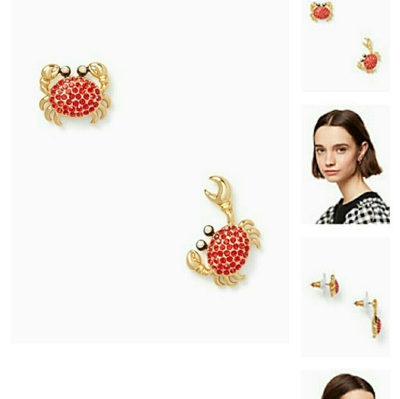 eb0148333040d Kate spade Pave crab earrings NWT